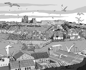 Whitby was the setting for the second volume of Harker. (image courtesy of Vincent Danks)