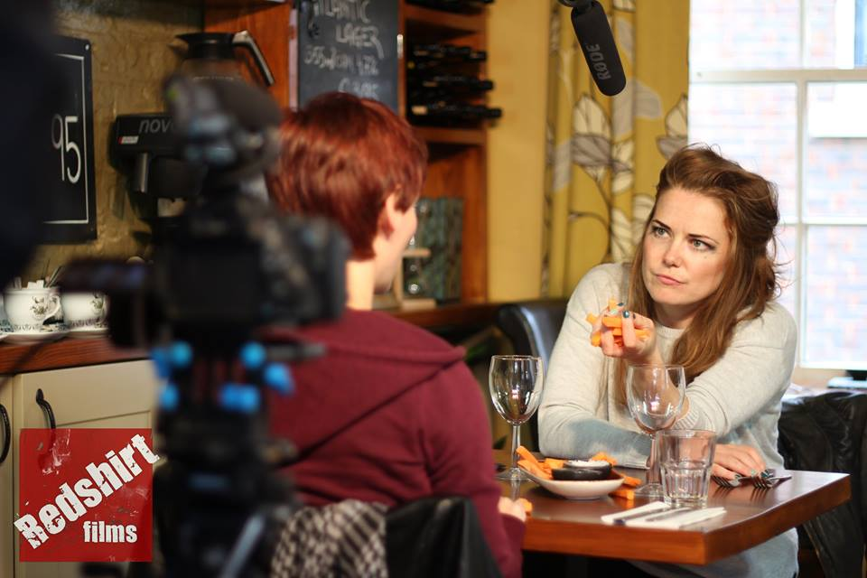 Actresses Jess Neale and Tara Muir on the set of Last Girl Standing. (Image courtesy of Lloyd Ludgrove)