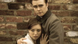 George Stagnell and Emma Dubruel play Andreas Kragler and Anna (photo courtesy of Michael J Oakes).