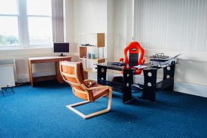 Office space and hotdesks are available for hire.