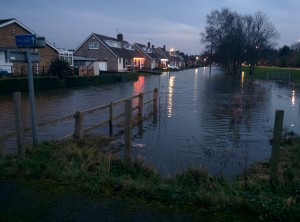 Flooding near the River Ouse.