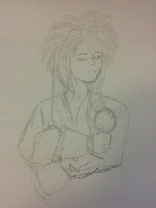 Here's Editor Dani Barge's attempt at a 10-minute sketch of Jareth.