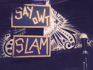 Say Owt Slam is taking part in York International Women's Festival.