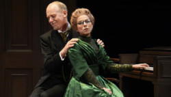 Steve Huison as Herbert Soppitt and Sue Devaney as Annie Parker. (Photo by Nobby Clark)