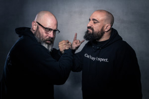 Sage Francis and B Dolan are on tour together (photo by A D Zyne).