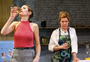 Genevieve Gaunt and Janie Dee in Monogamy, photo by Simon Annand