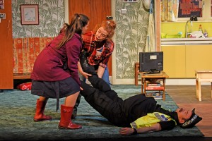 Susanne Ahmet, Lisa Howard and Michael Hugo in They Don't Pay? We Won't Pay!, photograph by Nobby Clark