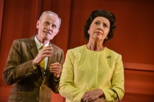 James Duke and Karen Ascoe in Single Spies, Photo by Robert Day