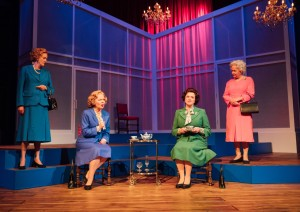 Sarah Crowden, Eve Matheson, Caroline Harker & Susan Penhaligaon in Handbagged, Photography by Helen Murray