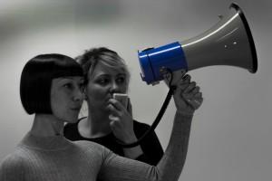 Gillian Lees and Rachel Baynton in The Audit