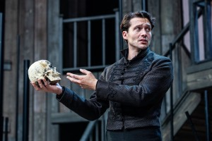 David Oakes as Hamlet at Shakespeare's Rose Theatre, photograph by Charlotte Graham